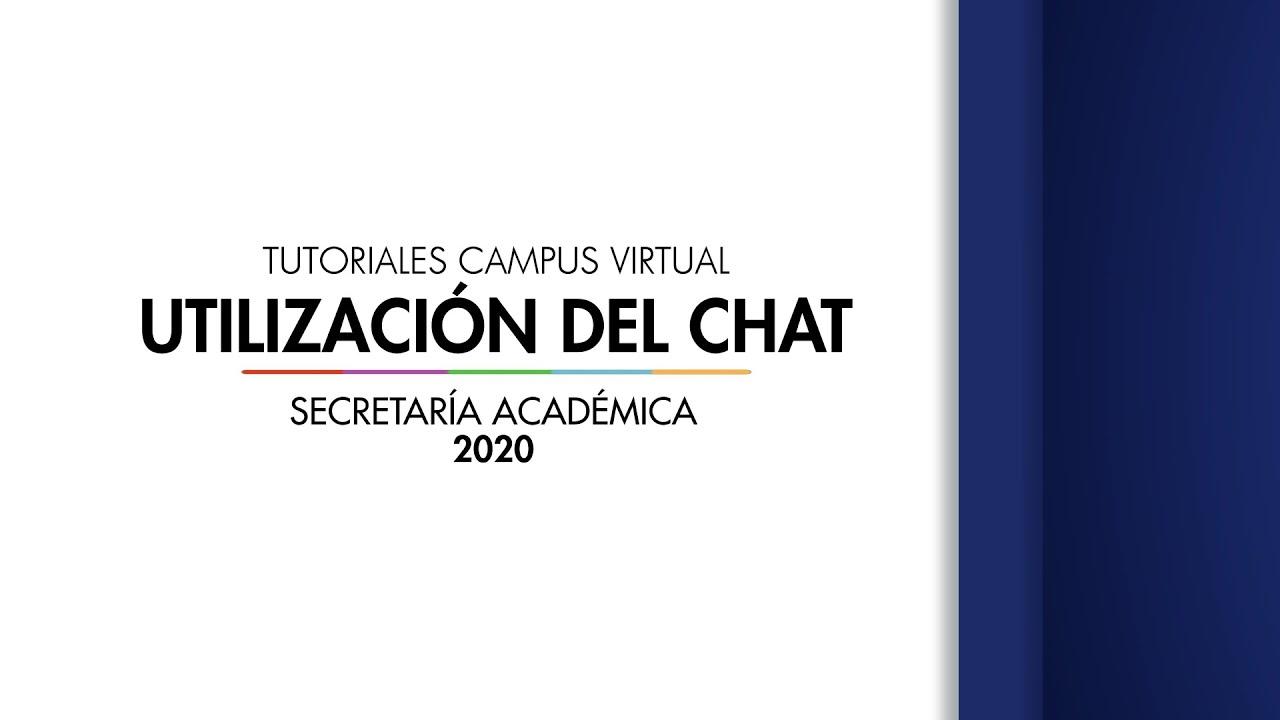 Utilización del Chat (estudiante)