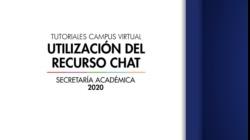 Tutoriales Campus Virtual: Utilización del Recurso Chat