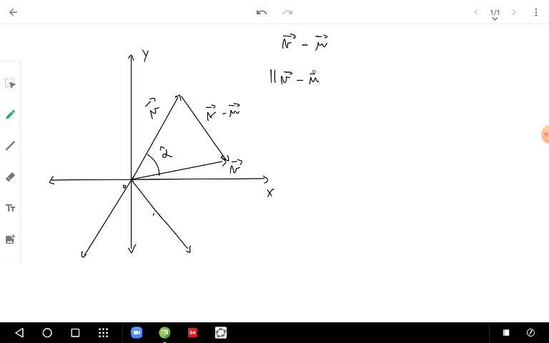 ángulo entre vectores