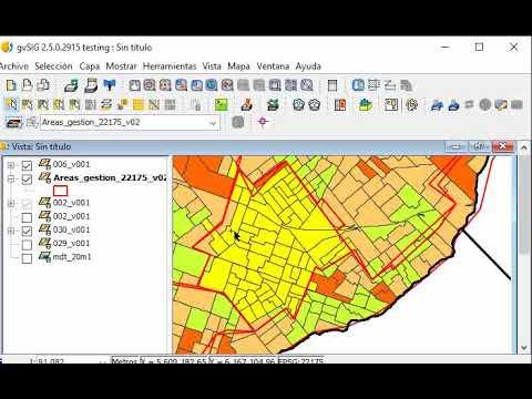 SIG Ejercicio E3 paso E : añadir datos en una capa de áreas de gestión a partir de la lectura de otras capas de datos - gvSIG