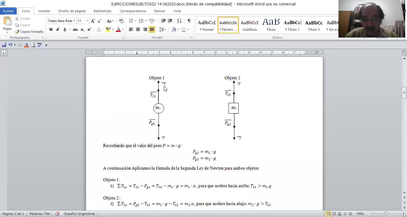 FISICA 1 - INEL - Video resolución ejercicio 14.GUIA 2