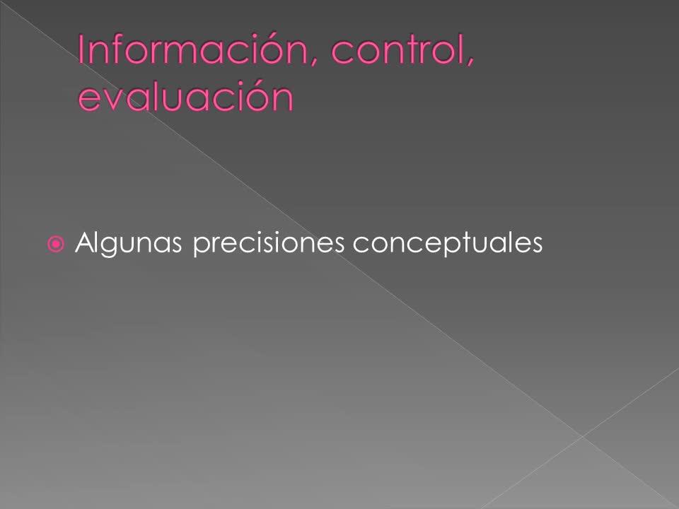 1- Información Control y Evaluación