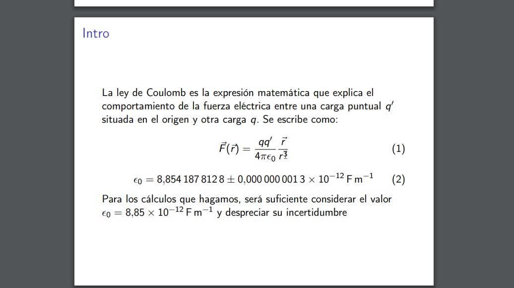 Clase Teórica 1: Ley de Coulomb