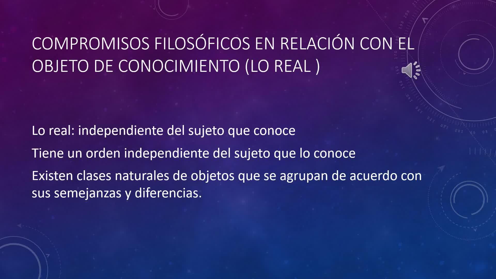 COMPROMISOS FILOSÓFICOS DEL REPRESENTACIONISMO