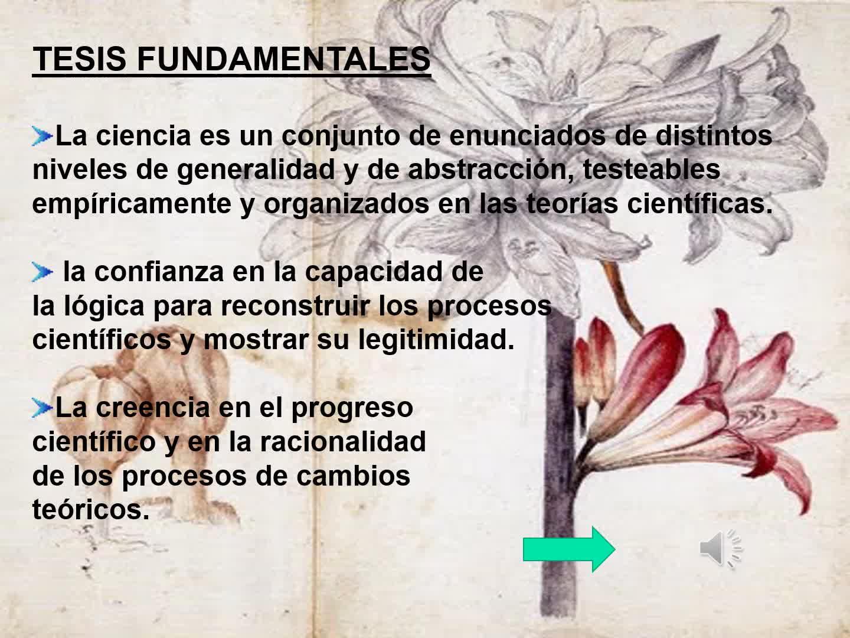 FILOSOFÍA DE LA CIENCIA ESTANDAR