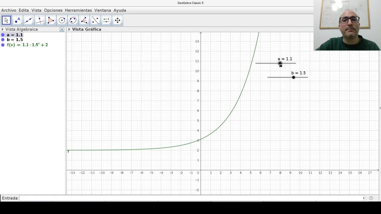 Funciones exponenciales - Gráficos con deslizadores