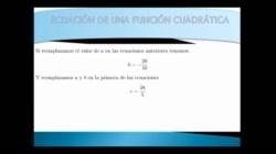 Ecuación de una función cuadrática