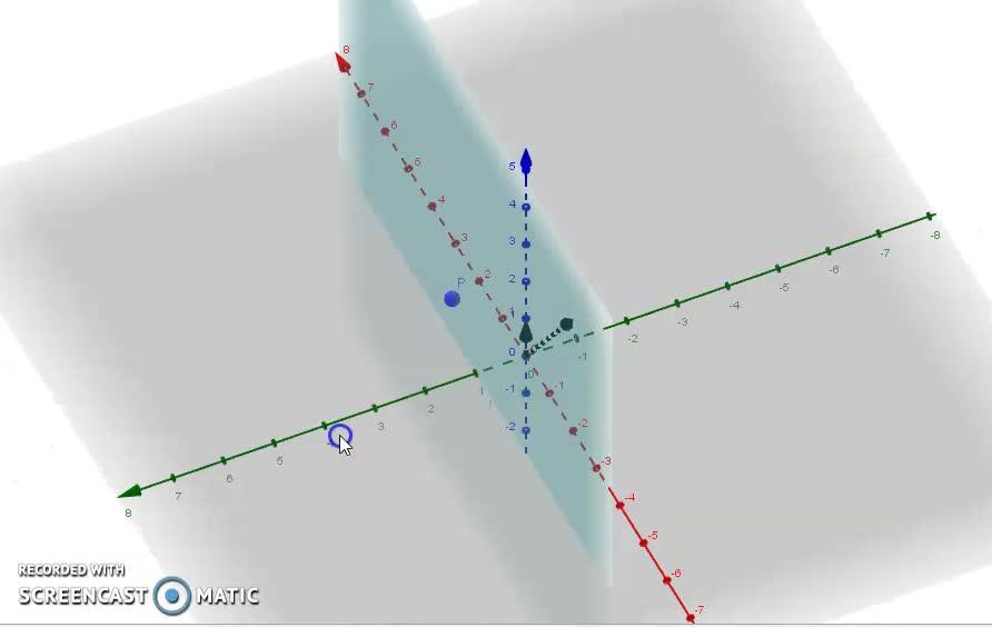 plano que no contiene a los vectores
