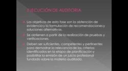PLANIFICACIÓN Y EJECUCIÓN DE AUDITORÍA