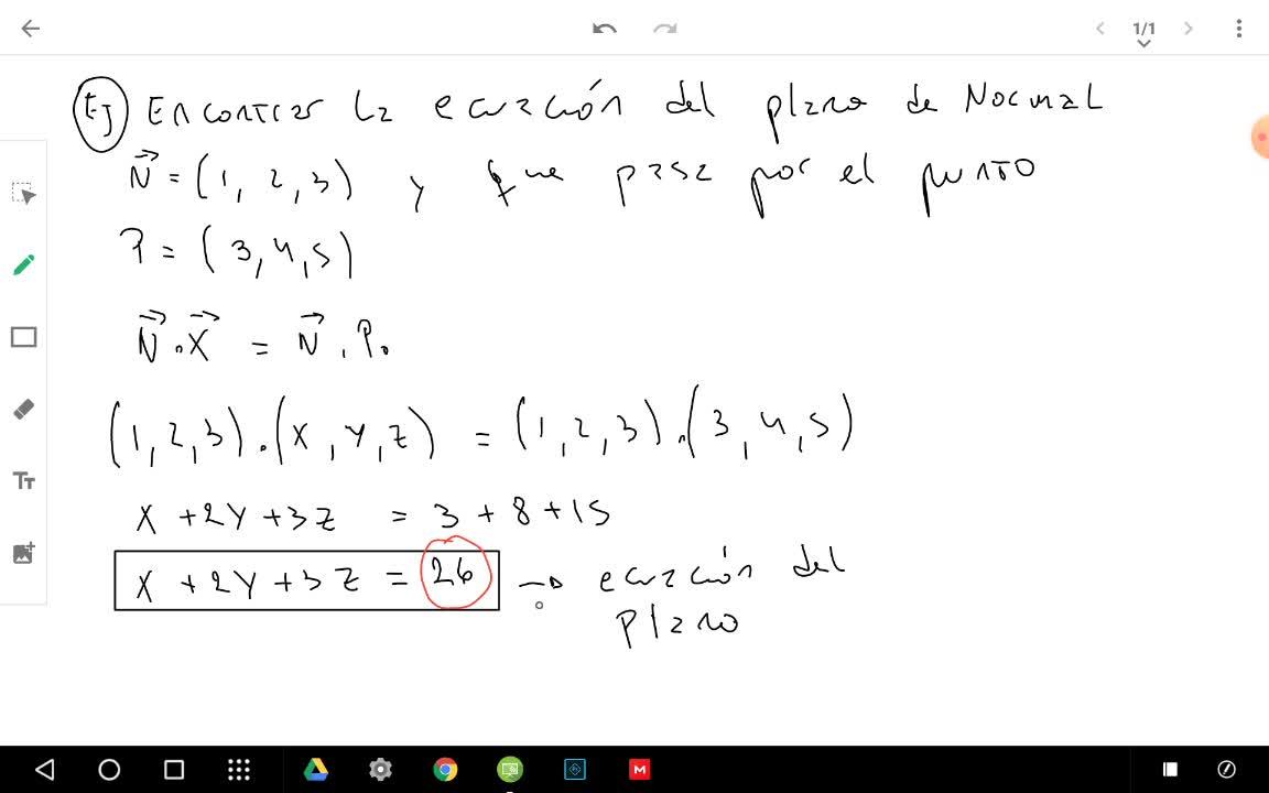 ejemplo plano normal