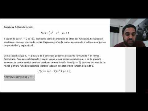 Tres problemas de funciones polinómicas