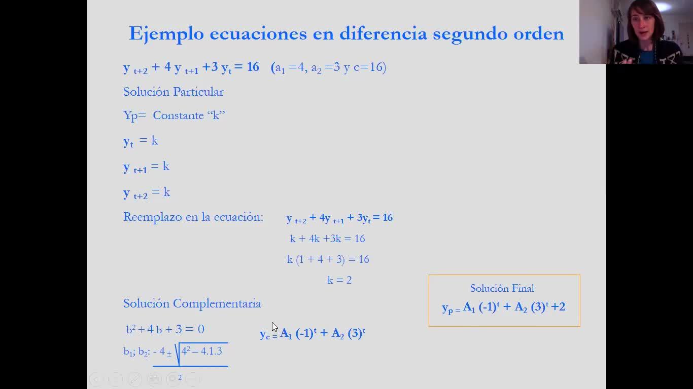 21_Unidad Nº5 - Teórico - Ecuaciones diferenciales y en diferencia de 2do orden