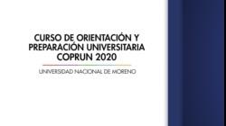 Curso de Orientación y Preparación Universitaria - COPRUN 2020