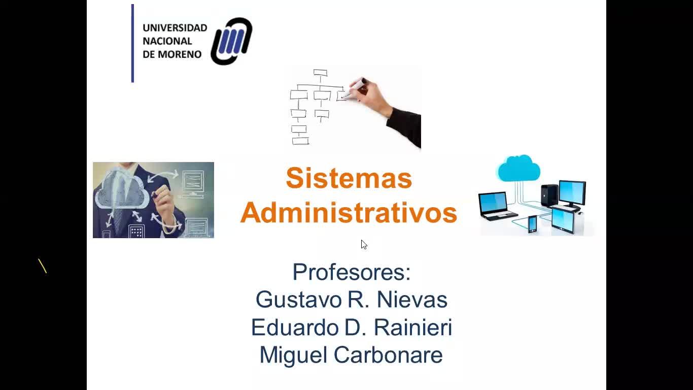 Clase 13-08 -Sistemas Administrativos