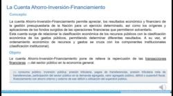 Clasificaciones de los recursos y cuenta ahorro-inversión-financiamiento. Segunda parte.