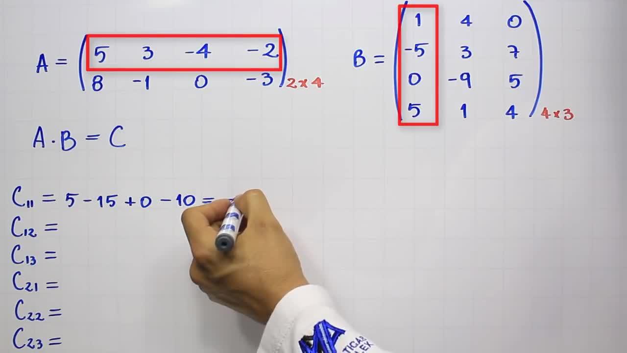Multiplicación de matrices   Producto de matrices   Ejemplo 1