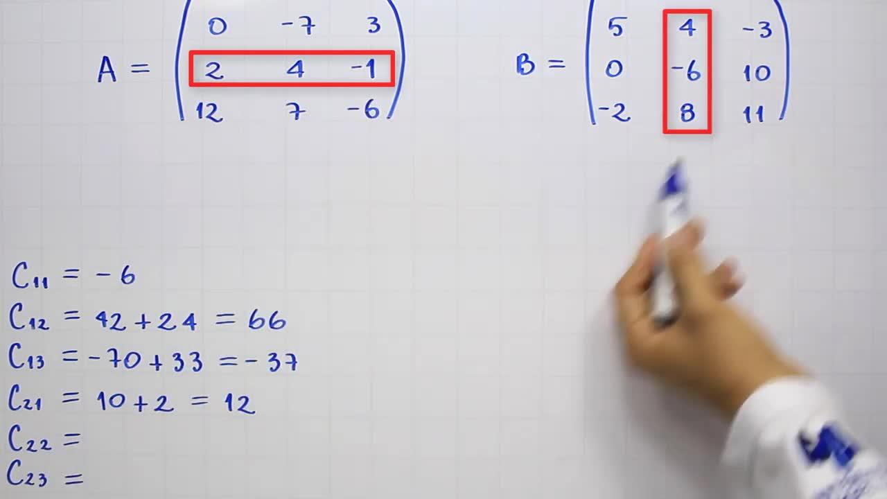 Multiplicación de matrices - Producto de matrices 3x3 | Ejemplo 3