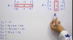 Multiplicación de matrices - Producto de matrices 3x3   Ejemplo 3