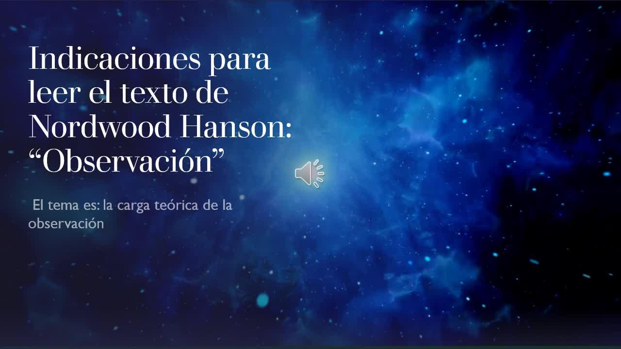 INDICACIONES PARA LA LECTURA DEL TEXTO DE HANSON
