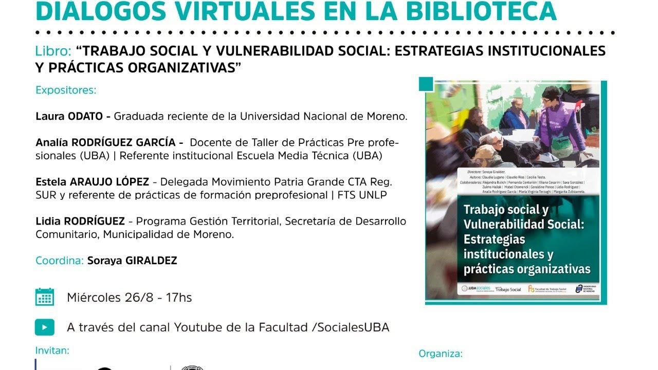 Ciclos de presentaciones - Diálogos virtuales en la Biblioteca.