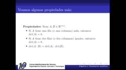 Algunas propiedades de los determinantes