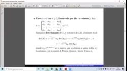 AGA - Determinante de una matriz de nxn