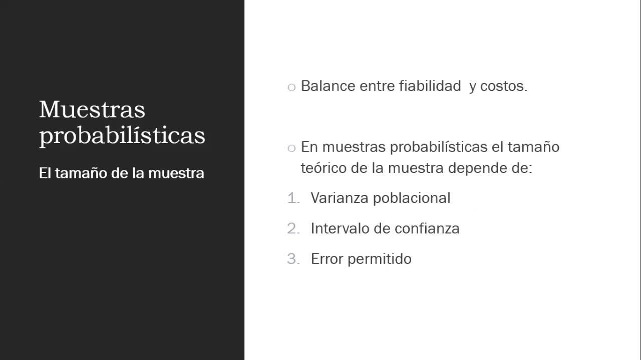 Clasa teórica 6 - Muestreo - Metodología de la investigación (comunicación)