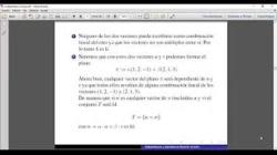 Combinación lineal e independencia lineal
