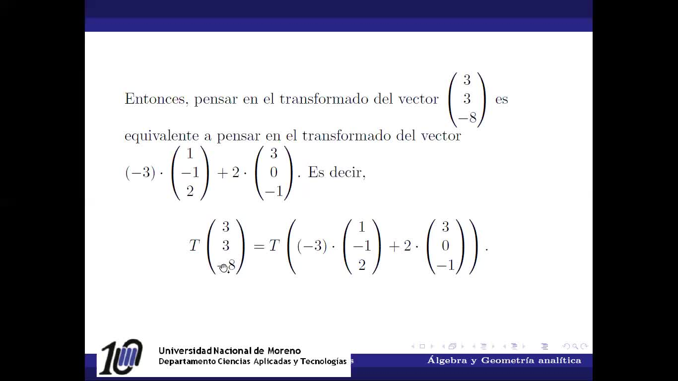 Transformaciones lineales: Propiedades que las definen y ejemplos