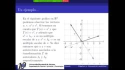 Autovalores y autovectores de una Transformación lineal