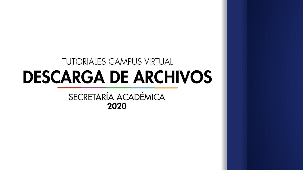 Como descarga un archivos del Campus Virtual