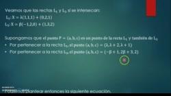 Intersección de rectas en R^3