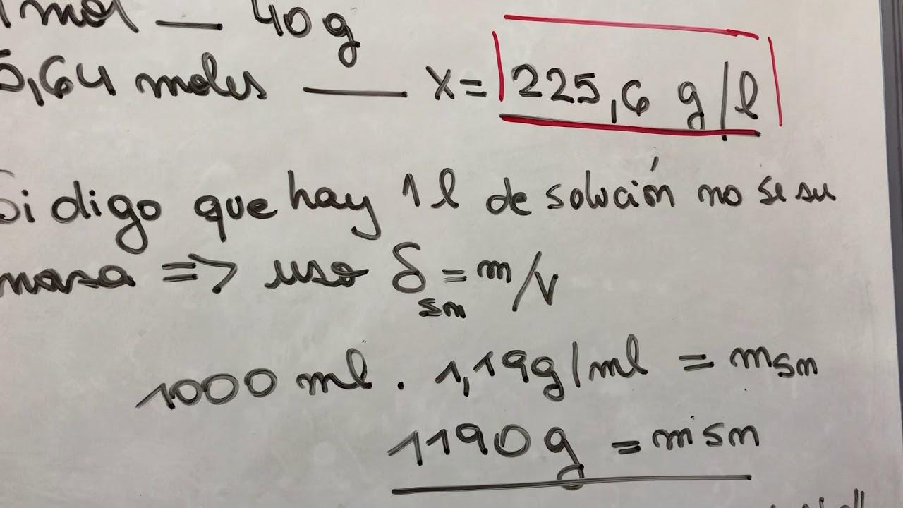 Problema 1 de soluciones Quimica General