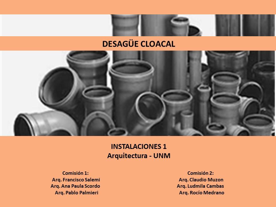 Parte 2/4 - Cloacal y Pluvial - Instalaciones 1 UNM