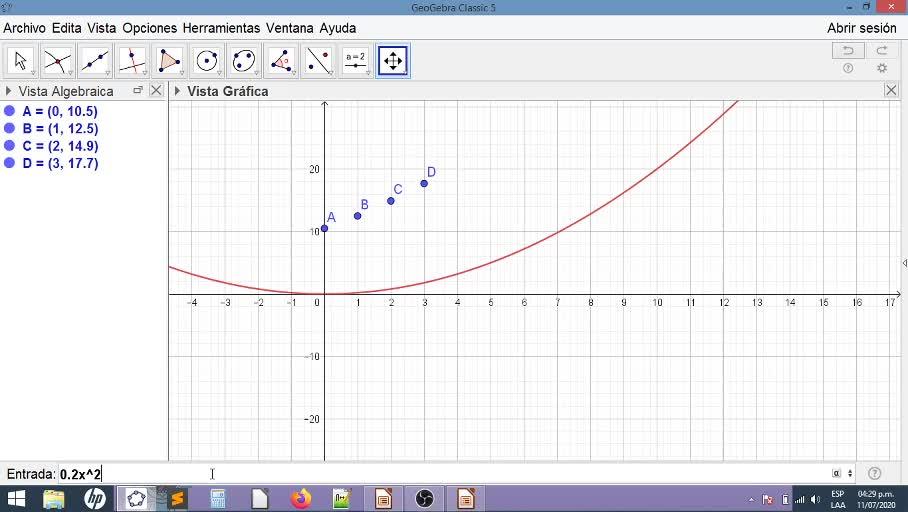 Lineales, cuadráticas, exponenciales y GeoGebra
