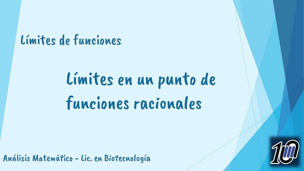 Límites en un punto de funciones racionales