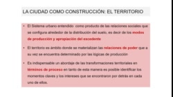 """Clase teórica """"EL ANÁLISIS URBANO_ NIVEL METODOLÓGICO E INSTRUMENTAL. PROCESO DE DIAGNÓSTICO INTEGRADO"""""""